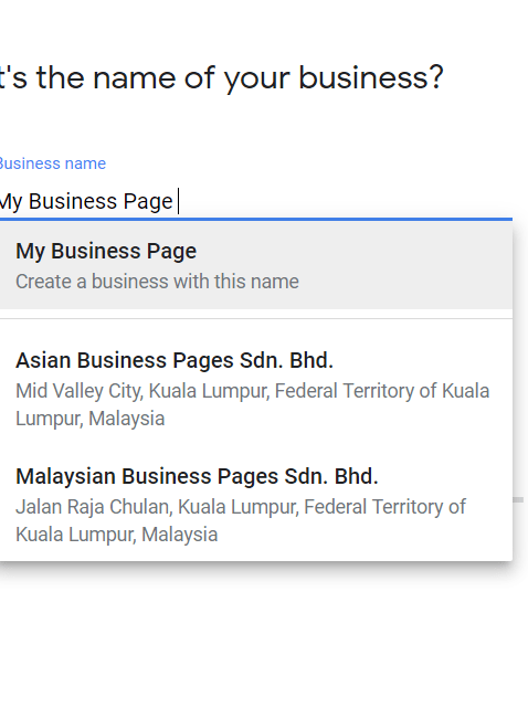 Set Your Google My Business Name