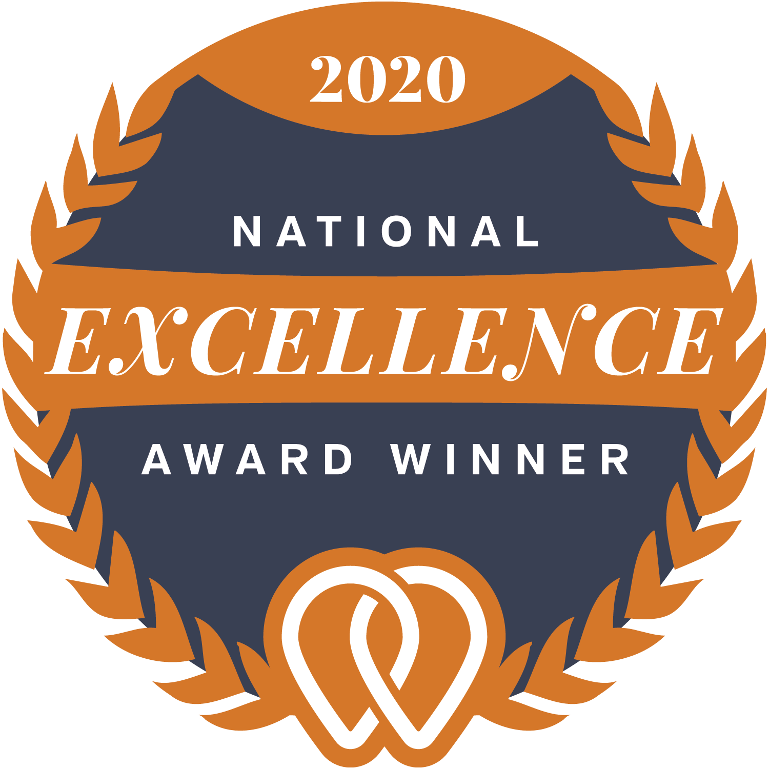 "Badge with words ""2020 National Excellence Award Winner"" and the UpCity Logo for SEO"