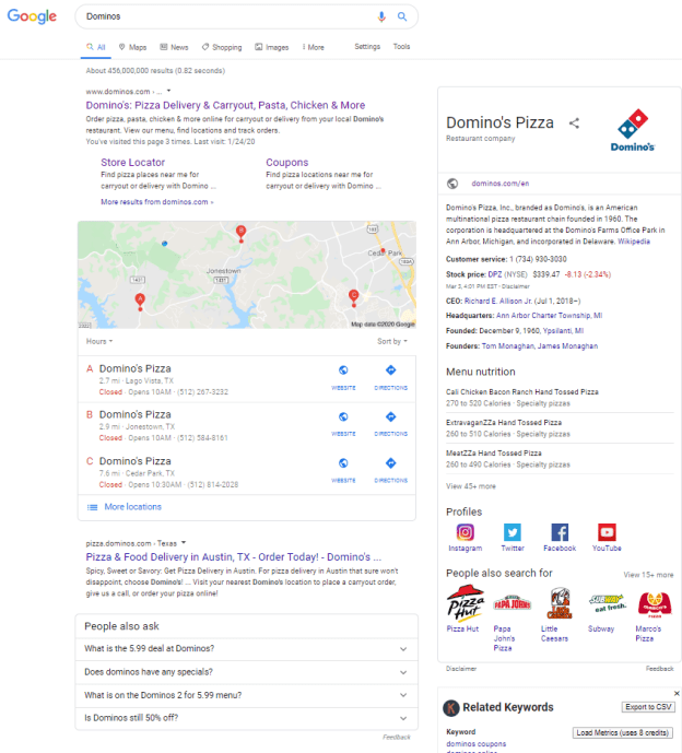 Domino's SEO Reputation Management Success